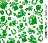 irish background and leaf... | Shutterstock .eps vector #646021669
