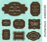 vector ornate wedding frame set | Shutterstock .eps vector #64602430