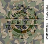 made in england on camouflaged... | Shutterstock .eps vector #646026361