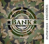 bank on camo pattern | Shutterstock .eps vector #646030831