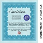 light blue retro invitation.... | Shutterstock .eps vector #646036465