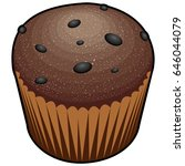 isolated muffin on a white... | Shutterstock .eps vector #646044079