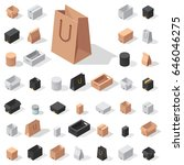 different box vector isometric... | Shutterstock .eps vector #646046275