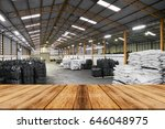 wooden empty warehouse on the... | Shutterstock . vector #646048975