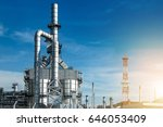 oil and gas industry refinery... | Shutterstock . vector #646053409