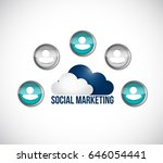 social marketing avatar network ... | Shutterstock .eps vector #646054441