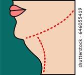liposuction of  chin  neck ...   Shutterstock . vector #646055419