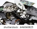 destroyed hard disk drive | Shutterstock . vector #646060825