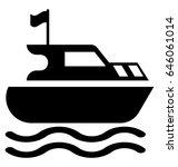 ship glyph vector icon | Shutterstock .eps vector #646061014