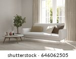 white room with sofa and green... | Shutterstock . vector #646062505