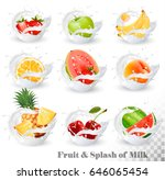 big collection of fruit in a... | Shutterstock .eps vector #646065454