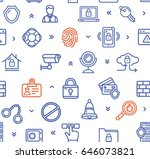data security and safe color... | Shutterstock .eps vector #646073821