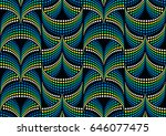seamless optical illusion... | Shutterstock .eps vector #646077475