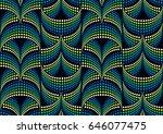 seamless optical illusion... | Shutterstock .eps vector #646077475