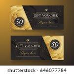 gift voucher template.vector... | Shutterstock .eps vector #646077784