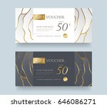 gift voucher template .vector... | Shutterstock .eps vector #646086271