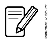 notes and pan vector icon.... | Shutterstock .eps vector #646093699