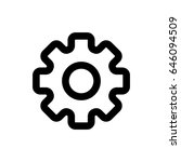 gear vector icon. black and...