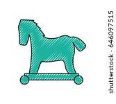 trojan horse virus | Shutterstock .eps vector #646097515