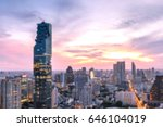 blurred cityscape of bangkok... | Shutterstock . vector #646104019