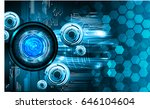 future technology  blue cyber... | Shutterstock .eps vector #646104604