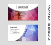 abstract vector layout... | Shutterstock .eps vector #646106437