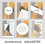 abstract vector layout... | Shutterstock .eps vector #646108789