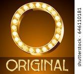vector golden casino lamp light ...   Shutterstock .eps vector #646110181