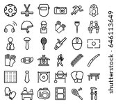 professional icons set. set of...   Shutterstock .eps vector #646113649