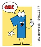 blue number with speech bubble | Shutterstock .eps vector #64611847