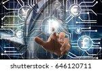 double exposure of businessman... | Shutterstock . vector #646120711