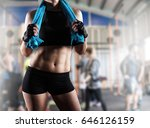 woman after gym workout | Shutterstock . vector #646126159