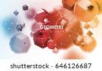 abstract poligonal background.... | Shutterstock .eps vector #646126687