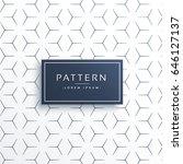 minimal thin line geometric... | Shutterstock .eps vector #646127137