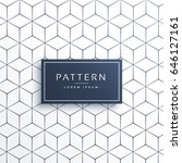 minimal geometric line pattern... | Shutterstock .eps vector #646127161