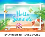 summer. | Shutterstock .eps vector #646139269