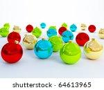 colour christmas balls hd render | Shutterstock . vector #64613965