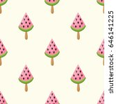 cute seamless pattern with a... | Shutterstock .eps vector #646141225