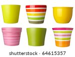 Collection Of   Flowerpots  On...