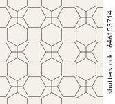 vector seamless pattern. modern ... | Shutterstock .eps vector #646153714