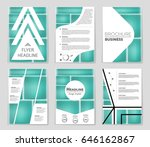 abstract vector layout... | Shutterstock .eps vector #646162867