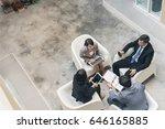 young asian business team... | Shutterstock . vector #646165885