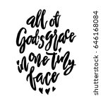 all of god s grace in tiny... | Shutterstock .eps vector #646168084