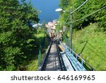 amazing view of funicular on... | Shutterstock . vector #646169965