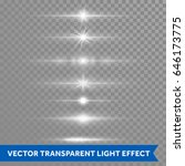 light effect or twinkling star... | Shutterstock .eps vector #646173775