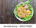 instant noodles soup tuna with... | Shutterstock . vector #646174381