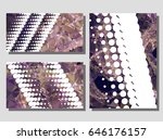 low poly mosaic background set. ... | Shutterstock .eps vector #646176157