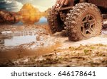 off road vehicle coming out of... | Shutterstock . vector #646178641
