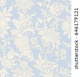 seamless pattern with floral... | Shutterstock .eps vector #646179121