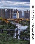 people pass the old bridge   Shutterstock . vector #646179181